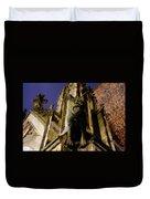 Gargoyle At The Dom Church In Utrecht In The Evening 188 Duvet Cover
