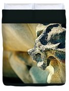 Gargoyle Coming Out Of The Rocks Gabriola Island. Duvet Cover