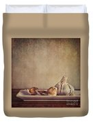 Garlic Cloves Duvet Cover by Priska Wettstein