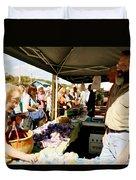 Garlic Farmers Duvet Cover