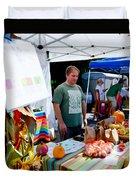Garlic Festival Vendors Duvet Cover