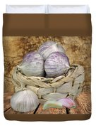 Garlic In The Basket Duvet Cover