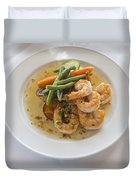 Garlic Prawns Duvet Cover