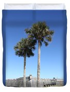 Garrita And Palms At The Fort Duvet Cover