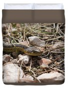 Garter Snake On The Trail In The Pike National Forest Of Colorad Duvet Cover