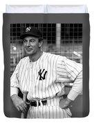 Gary Cooper As Lou Gehrig In Pride Of The Yankees 1942 Duvet Cover