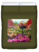 Gas Light In The Garden Duvet Cover