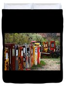 Gas Pump Conga Line In New Mexico Duvet Cover