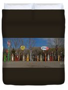 Gas Pumps And Gas Signs Panorama Duvet Cover