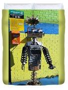 Gas Station Robot Duvet Cover