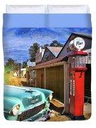Gas Stop Duvet Cover