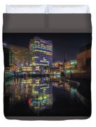 Gas Street Basin At Night Duvet Cover