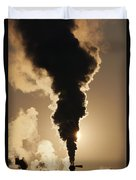 Gaseous Air Pollution Duvet Cover