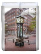 Gastown Steam Clock Duvet Cover