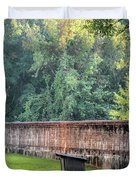 Gate And Brick Wall At Shiloh Cemetery Duvet Cover