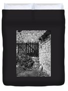 Gate At Dunguaire Castle Kinvara Ireland Duvet Cover