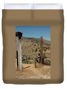 Gate Out Of Virginia City Nv Cemetery Duvet Cover
