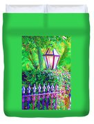 Gate With Lantern Duvet Cover