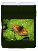 Gatekeeper Butterfly After The Rain. Duvet Cover