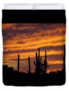Gates Pass Sunset Duvet Cover
