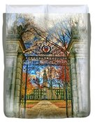 Gates To Knowledge Princeton University Duvet Cover