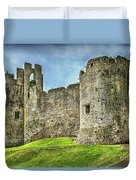 Gateway To Chepstow Castle Duvet Cover