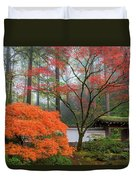 Gateway To Portland Japanese Garden Duvet Cover