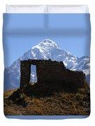 Mt Veronica And Inti Punku Sun Gate Duvet Cover