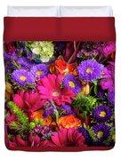 Gathered Garden Flowers Duvet Cover
