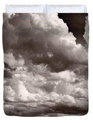 Gathering Clouds Over Lake Geneva Bw Duvet Cover