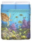 Gathering In The Reef Duvet Cover