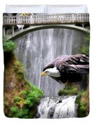 Gathering Of Eagles Duvet Cover