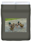 Gathering Of The Flock Duvet Cover