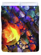 Gathering Of The Planets Duvet Cover