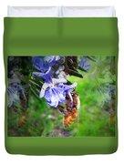 Gathering Rosemary Pollen Duvet Cover