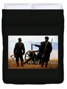 Gatling Gun On The Battle Field Duvet Cover