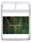 Gator In The Spring Duvet Cover