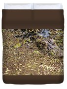 Gator In The Weeds Duvet Cover