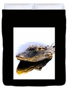 Gator Profile Reflection Duvet Cover