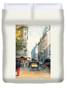 Gatubild Paris Duvet Cover