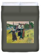 Gauguin, Breton Girls, 1888 Duvet Cover
