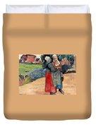 Gauguin: Breton Women, 1894 Duvet Cover