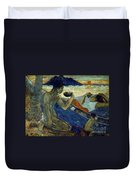 Gauguin: Pirogue, 19th C Duvet Cover
