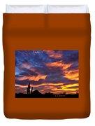 Gavilan Peak With Painted Sky Duvet Cover