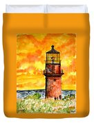 Gay Head Lighthouse Martha's Vineyard Duvet Cover
