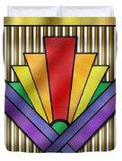 Rainbow Art Deco Duvet Cover
