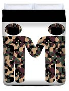 Gays In The Military Duvet Cover