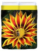 Gazania With Insect Duvet Cover