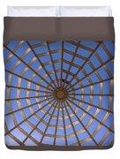 Gazebo Blue Sky Abstract Duvet Cover