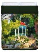 Gazebo In The Nikitsky Botanical Garden Duvet Cover